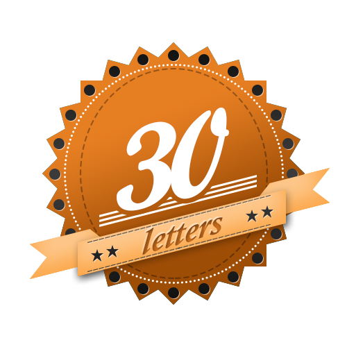30 letters product