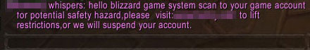 hacking whisper in wow