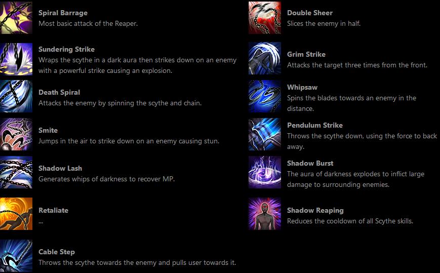 new tera class reaper skills