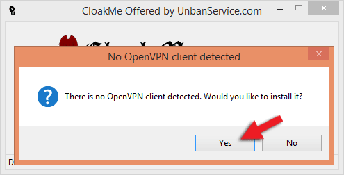 OpenVPN Pop-Up