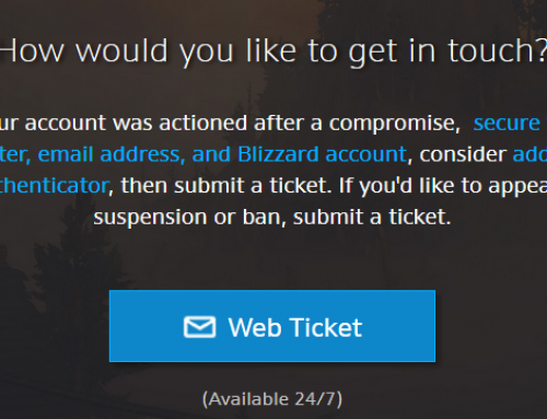 How to Unban a WoW Account